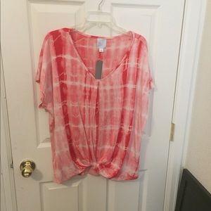 Dress Barn XL Tie Dye Shirt NWT